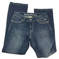 Harley Davidson Classic Faded Blue Straight Cut Jeans Size 8