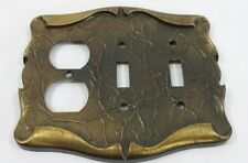 Vintage Amerock Carriage House Light Switch Plate Cover 2 Toggle and Outlet Bras
