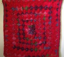 New Baby Afghan Receiving Blanket Red Handmade Crocheted