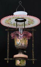 RARE Victorian Hanging Oil Lamp Antique Chandelier