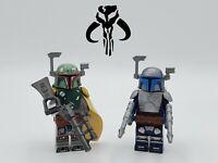 Star Wars Boba Fett Jango Fett Duo 2 Minifigures Set - USA SELLER