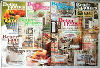 Lot of 10 Better Homes and Gardens Magazines 1996 - 2000