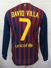 Barcelona Camiseta de fútbol 2011-2012 Villa #7 lejos (excelente) m Fútbol Jersey Top