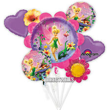 Disney Tinkerbell Authentic Licensed Foil / Mylar Balloon Bouquet