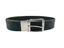 New Authentic Louis Vuitton Reversible Damier Print Belt Yellow M0953T #298H