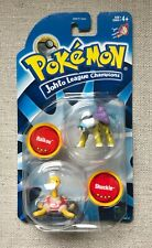 "Pokémon Hasbro Tomy 2"" Figures, Authentic, Vintage, Raikou and Shuckle Sealed"