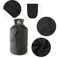 Black Waterproof Cover Protective Dust-proof Cover for BBQ Barbecue Gas Bottles