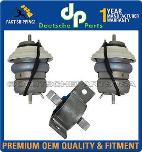 Jaguar XF 2008-2015 Diesel 2.7 Engine Transmission Mount AW93-6A003-AD Set 3