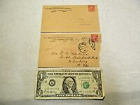 2 - 1904 Pere Marquette Railroad Envelopes that are in good used shape - NR