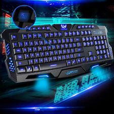 3 LED retroilluminato Retroilluminazione Illuminato USB Tastiera ergonomica per Gaming multimediale UK