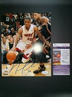 NORRIS COLE MIAMI HEAT NBA SIGNED 8X10 PHOTO W/JSA COA J02969