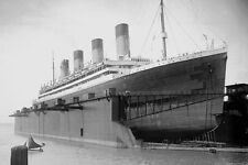 726003 RMS Olympic In Floating Dock 1924 Southampton UK A4 Photo Print