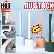 Silicone Toilet Brush with Toilet Brush Holder Creative Cleaning Brush Set NEW &