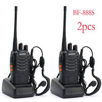 2X Baofeng BF-888S UHF 400-470MHz 5W Handheld Two-way Ham Radio Walkie Talkie KY