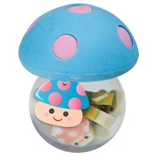 MUSHROOM ERASERS - RUBBERS NOVELTY MINI CUTE AND HOLDER