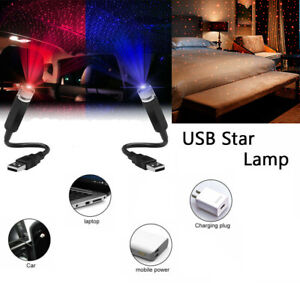 USB LED Car Atmosphere Star Night Light Interior Roof Lamp Projector Home Decor