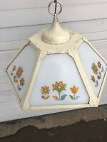 Vintage Mid Century Modern Kitchen Ceiling Light Fixture Chandelier With Flowers