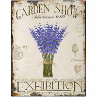 GARDEN SHOW EXHIBITION  METAL TIN SIGN POSTER WALL PLAQUE