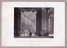 A.H. Payne - Dresden Frauenkirche (Innen) - Original Stahlstich 1846