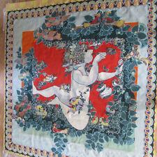 Monumental Bjorn Wiinblad Danish Artist Flute Player Tapestry 9 feet x 10 feet