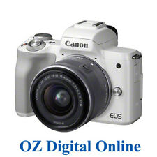 New Canon EOS M50 +15-45 STM Kit White Mirrorless 24MP WiFi NFC Camera 1Yr AuWty