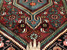 5x7 HERIZ PERSIAN RUG ANTIQUE HAND KNOTTED WOOL blue teal oriental geometric 4x6