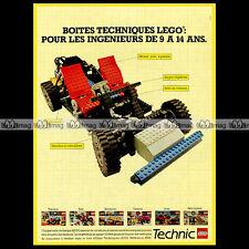 LEGO TECHNIC 'Auto / Car Chassis 8860' (1983) - Pub Publicité / Advert Ad #A1059