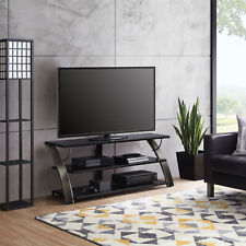Charcoal 3-in-1 Flat Panel TV Entertainment Stand Home Living Room Furniture