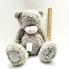 "Tatty Teddy Me To You Plush 12"" Gray Teddy Bear w/ Story Book Carte Blanche"