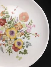 "Five (5) Wedgwood SUMMER BOUQUET 8.25"" Salad Plates"
