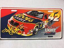 Vintage Metal Kyle Petty License Plate Coors Beer NASCAR Automobile Pontiac Car