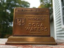RARE Vintage San Francisco Biscuit Co SODA WAFERS Metal Advertising Paperweight