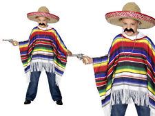 Poncho Mexicano Adulto Colorido Vaquero Capa Disfraz infantil talla única