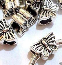 50 pc Lot EUROPEAN CHARM METAL Butterfly SPACER BEADS for bracelet J17