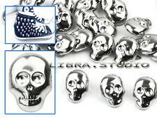30pcs Skull Spots Nailheads Spike Studs Silver Color Goth Rock DIY Leather Craft