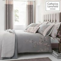 Catherine Lansfield Embroidered Blossom EasyCare Quilt/Duvet Bedding Collection