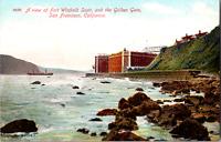 Vintage C. 1910 Fort Winfield Scott Golden Gate Ocean California CA Postcard