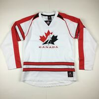 Team Canada Hockey Jersey Olympic National Team Red/White/Black Sz Large