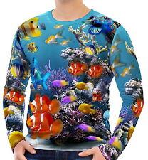 Tropical Fish In An Aquarium Mens Long Sleeve T-Shirt Tee wa2 aao44940