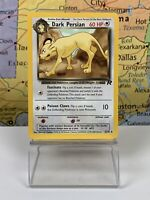 SHIPS SAME DAY Pokemon Card Team Rocket 1st Edition Dark Persian 42/82.