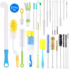 27pcs Strip Type Cleaner Bottle Tube Pipe Kitchen Handle Cleaning Brush Tools