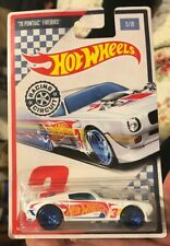 2017 Hot Wheels '70 Pontiac Firebird #3/10 Racing Circuit WHITE