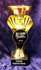Gold Finish Metal Cup Trophy with marble base Includes FREE Personalization