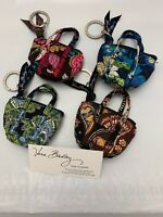 Vera Bradley Lot of 4 Mini Miller Coin Key Ring Purse Earbud Pill Case Bag Charm