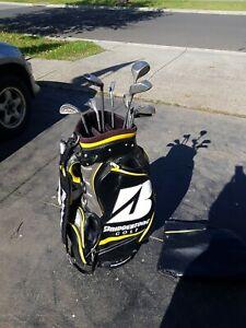 Bridgestone Golf Bag And Clubs