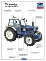 FORD TRACTOR 7810 SERVICE CHART NEW HOLLAND SALES BROCHURE/POSTER ADVERT A3