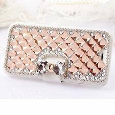 Luxury Bling Rhinestone Diamond Leather Flip Wallet Phone Case Cover For Nokia