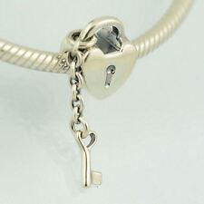 Genuine PANDORA Key to My Heart Silver Charm 790971