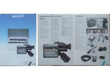 SONY VIDEO BROCHURE (1985) BETAMOVIE CAM,  BETAMAX TAPE RECORDER, VCR