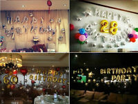 """GIANT 16"""" HAPPY BIRTHDAY SELF INFLATING BALLOON BANNER BUNTING PARTY DECORATION"""